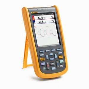 Fluke 123b Industrial Scopemeter Hand held Oscilloscope 2 Channel 20mhz
