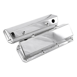 Ford 302 351c Cleveland Polished Fabricated Valve Covers Tall W Hole