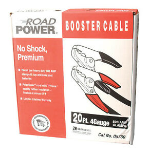 Booster Cables 4 1 Awg 16 Ft Black