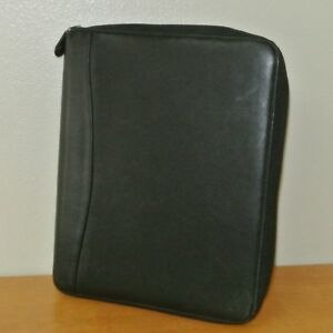 1 10 Rings Monarch Black Franklin Covey Leather Binder planner Spacemaker