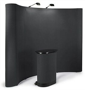 8ft Portable Display Trade Show Booths Exhibit Pop Up Kit
