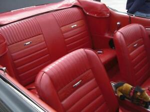 Mustang Pony 1966 Red Convertible Seat Upholstery For Front Buckets And Rear
