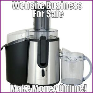 Fully Stocked Juicers Website Business free Domain free Hosting free Traffic
