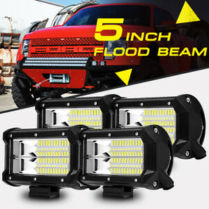 4x 5inch 288w Cree Led Work Light Bar Flood Pods Offroad Truck Pickup Fog 3 4 7