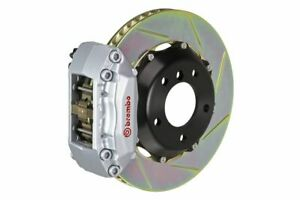 Brembo Gt Brake Kit Front 328mm 2pc Slotted 4 Piston Silvr A4 B5 96 01 A6 2 8 C5