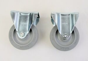 Rubber Rigid Caster Wheel 4 X 1 1 4 Performa Lot Of Two 2