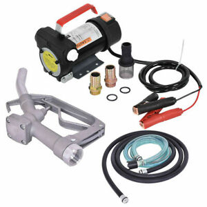 12v 10gpm Electric Diesel Oil And Fuel Transfer Extractor Pump W Nozzle