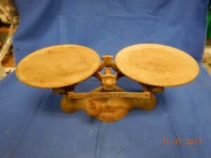 Antique Jacobs Brothers Cast Iron Scale 2 New York Detecto Vintage Weigh