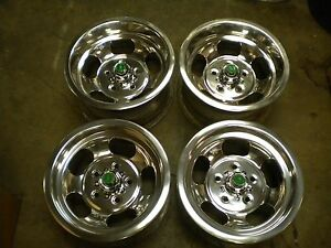 Just Polished Set 14x7 14x8 U S Indy Slot Mag Wheels 442 Gto Ss Mags Camaro Ss
