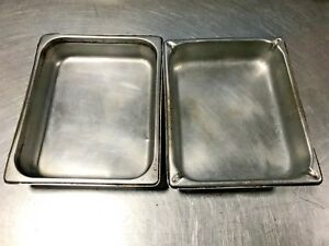 Lot Of 2 4 Quart 1 2 Size Steam Table Pans