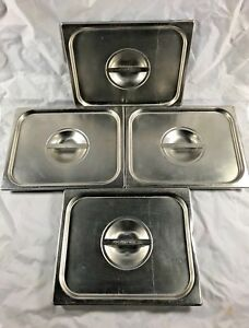Lot Of 4 Vollrath 75120 Super Pan V 1 2 Size Food Pan Covers