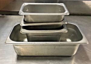 Lot Of 4 Steam Table Pans don vollrath adcraft
