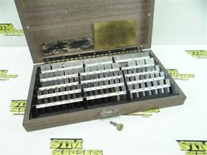 Starrett Webber Precision Gage Block Set 1001 To 4 Key