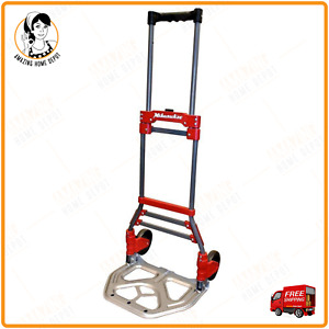 Milwaukee Hand Truck Heavy duty Furniture Moving Dolly 150lb Push Cart Trolley
