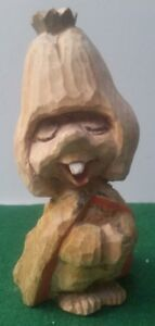 Vintage Henning Hand Carved Wood Norwegian Troll 5 3 4 Tall