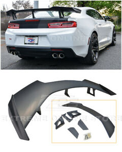 Eos For 16 Up Camaro Zl1 1le Style Abs Plastic Bk Rear Trunk Lid Spoiler Wing