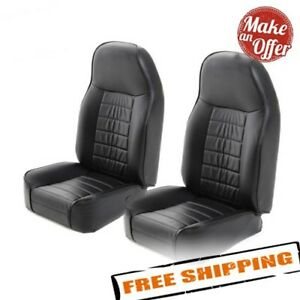 Smittybilt 44901 Pair Of Front Bucket Seats For 1976 2017 Jeep Wrangler Cj