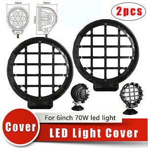 2 Pcs Led Light Guard Cover For 6 70w Round Led Driving Light Offroad Headlamp