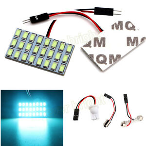 50pcs T10 Ba9s Festoon Dome 24smd 5730 Led Car Interior Door Map Panel Light 12v