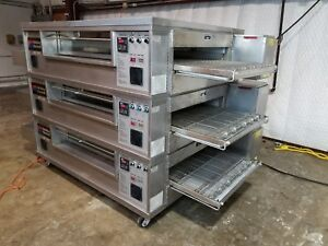 Middleby Marshall Ps570 Triple Stack N g Pizza Conveyor Ovens video Demo