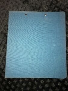Vintage Prudential feldco Canvas Cloth 3 Ring Binder Pen Tab Webster s Blue