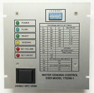 Water Vending Machine Control Board Esdi Model 170258 New Reliable American