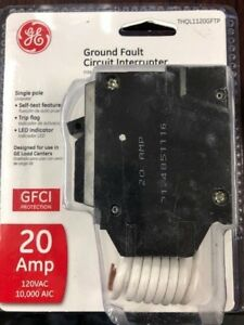 Ge Thql1120gftp Thql1120gft 20amp Gfci Breaker With Self Test New In Package