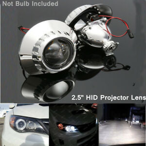 2x 2 5 Xenon Hid Headlight Projector Lens Retrofit Hi Low Beam Fits Bmw E46 M3