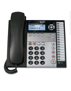 At t Small Business Corded Phone System 4 Line Desk Wall Mount 1040 Conferencing