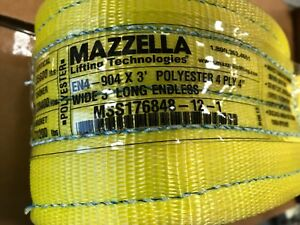 Mazzella En4 904 Web Sling Endless 4 Ply 3 Length 4 Wide Lifting Strap