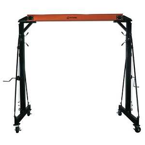 Titan Adjustable Telescoping Gantry Crane 3000 Lb Capacity 1 1 2 Ton