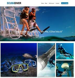 Scuba Diving Website Business Earn 555 A Sale Free Domain hosting traffic
