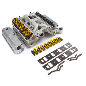 Fits Ford Sb 289 302 Solid Ft 190cc Cylinder Head Top End Engine Combo Kit