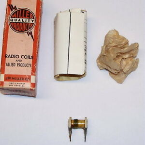 Nos Jw Miller J w 47a125cpc Vintage Radio Rf Variable Coil Inductor Pc Mount