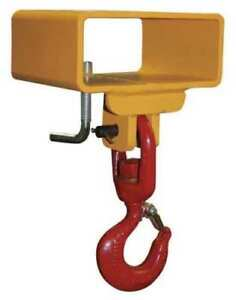 New Caldwell 5s 1 1 2 4 Welded Steel Lifting Hook 3000 Lb Capacity