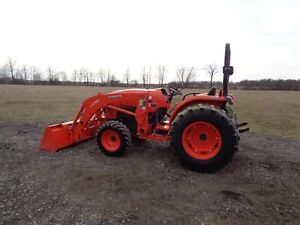 2013 Kubota L4701 Tractor W La765 Fl 4wd Shuttle Shift 320 Hours