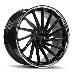 20 Giovanna Spira Ff Black Concave Wheels Rims Fits Infiniti Q50 Sedan