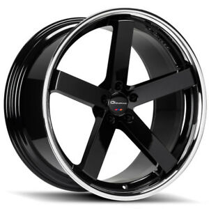 20 Giovanna Mecca Ff Black Concave Wheels Rims Fits Honda Accord