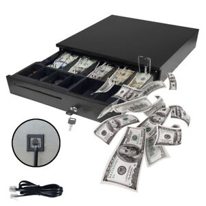 Cash Drawer Box Works Compatible Epson star Pos Printers W 5coin Tray