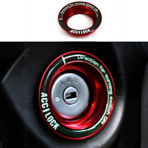 Alloy Ignition Engine Start Key Luminous Ring Trim Cover For Ford Escape Focus