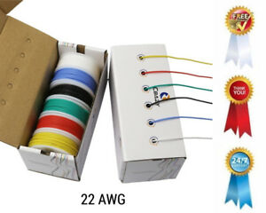 Awg 22 Gauge Flexible Silicone Rubber Electric Hook Up Wire Kit 6 Colors 19 6ft