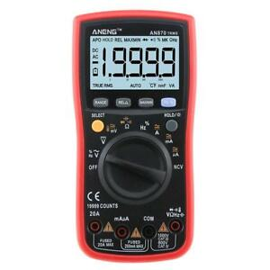 Aneng An870 19999 Counts True rms Auto Range Digital Multimeter