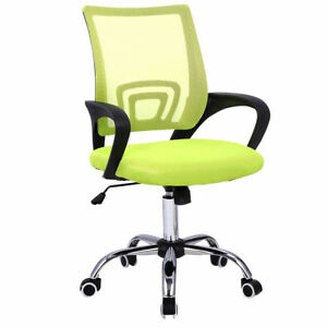 Modern Mesh Mid back Office Chair Computer Desk Task Ergonomic Swivel Green