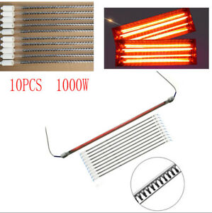10x 1000w Spray Baking Booth Ir Infrared Paint Curing Lamps Lights Heating Tubes