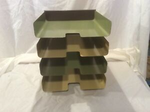 Vintage Heavy Steel 4 Tier Desk Organizer Mosler harbor Metal Products Mcm Retro