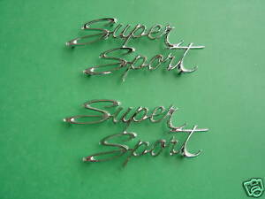 1966 66 1967 67 Nova Super Sport Quarter Emblems trim Parts usa Made