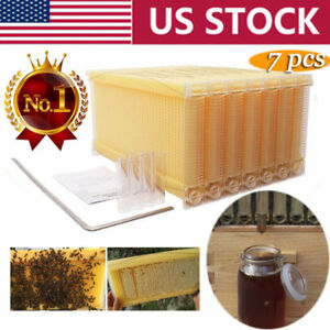 7pcs Upgraded Auto Honey Hive Beekeeping Beehive Frames Harvesting Supplies Usa