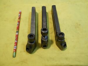Lot Of 3 Armstrong Usa No 2 Engine Lathe Tool Holders Metal Turning 3 8 Bit