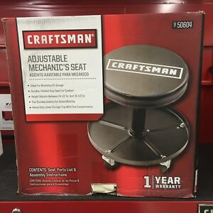Craftsman Adjustable Pneumatic Mechanics Swivel Seat Garage Stool