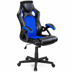 Pu Leather Executive Bucket Seat Racing Style Office Chair Home Office Furnitur
